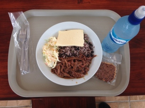 At least my first meal in Costa Rica was good, even though I got charged $2.00 for a coffee (not shown).