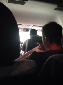 The inside can be really cramped, especially when the guys up front wedged in two surfboards!